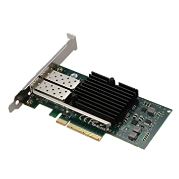 Nrpfell Tarjeta De Red para Intel E10G42Btda 82599Es Chip 10Gbe ...