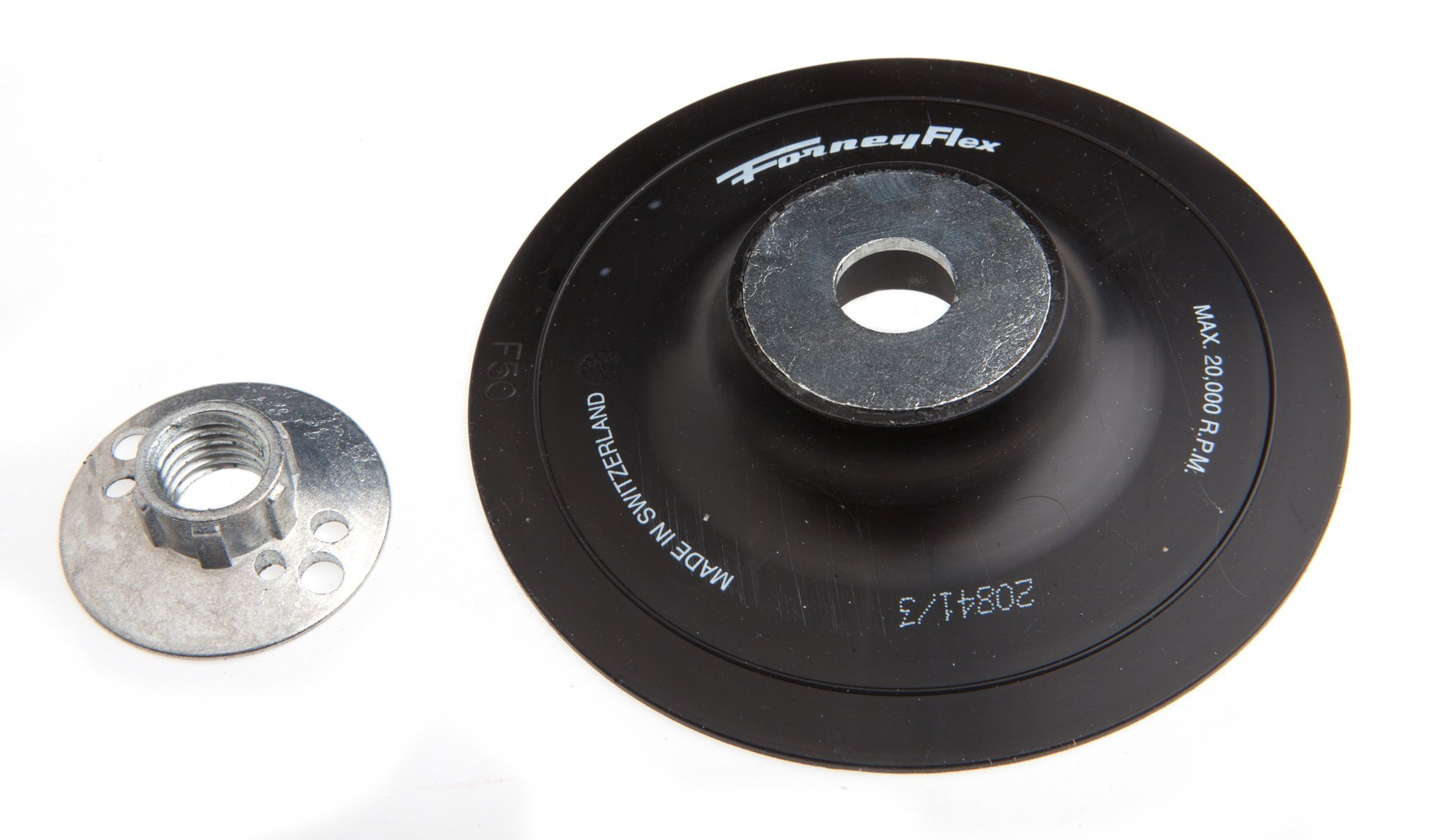 Forney 72322 Backing Pad with 5/8-Inch-11 Spindle Nut, 5-Inch