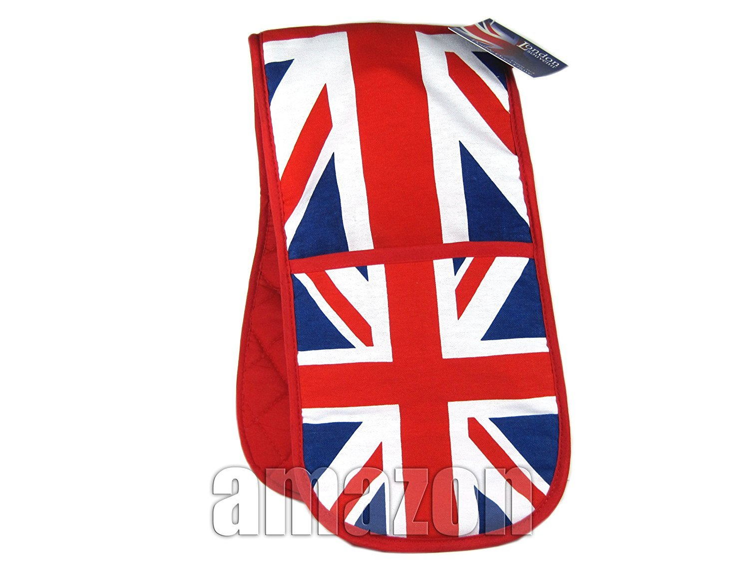 Double Oven Gloves with Union Jack Print, London Collectable Souvenir London Gifts Store