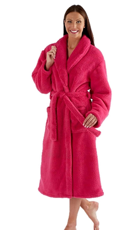 Mujer Bata Tacto Suave Lujo Bata Azul Marino Rosa Púrpura - Talla 10 12 14 16 18 20 22 24: Amazon.es: Ropa y accesorios