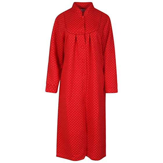 Ladies Soft Jersey Mock Quilt Dressing Gown. Red or Navy. Sizes 10 ... : quilted dressing gown - Adamdwight.com