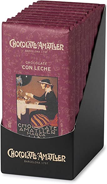 Chocolate Amatller Chocolate con Leche - 100 Unidades: Amazon.es ...