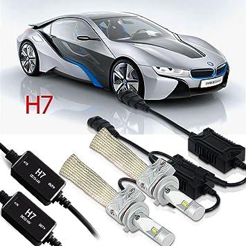 QUAKEWORLD 44W *2 H7 LED de Los Faros de Los Bulbos 4800Lm + 2*