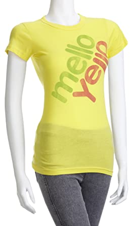 Junk Food Women s Mello-Yello T-Shirt Bright Yellow CC003-1251 Small cdb5f07f6