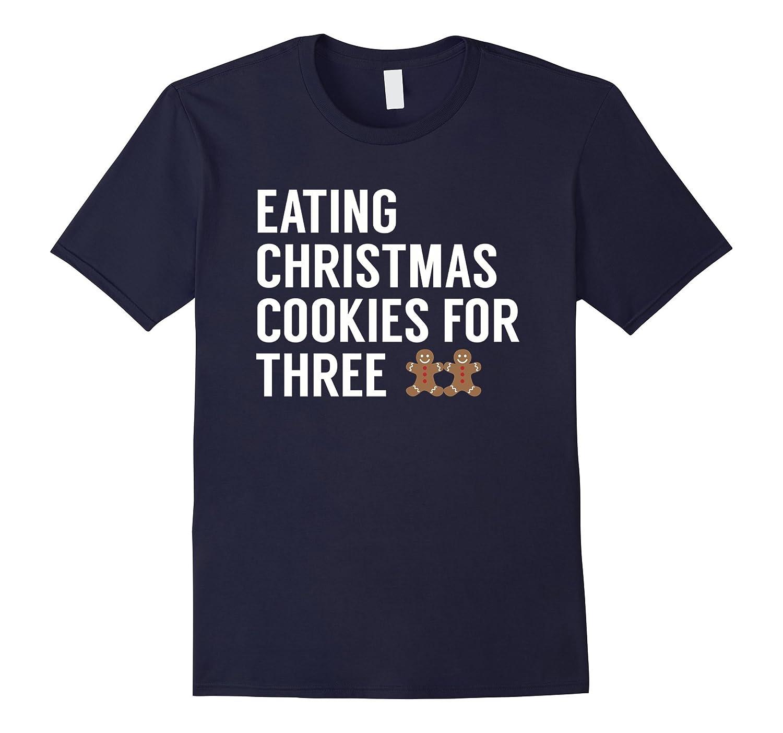 Eating Christmas Cookies For Three - Twins Pregnancy Tshirt-FL