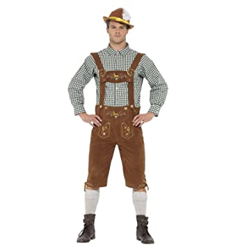 d654ddb2b2d Fancy Dress VIP Medium Adult Mens Traditional Bavarian Hanz Lederhosen  Shorts Oktoberfest Costume