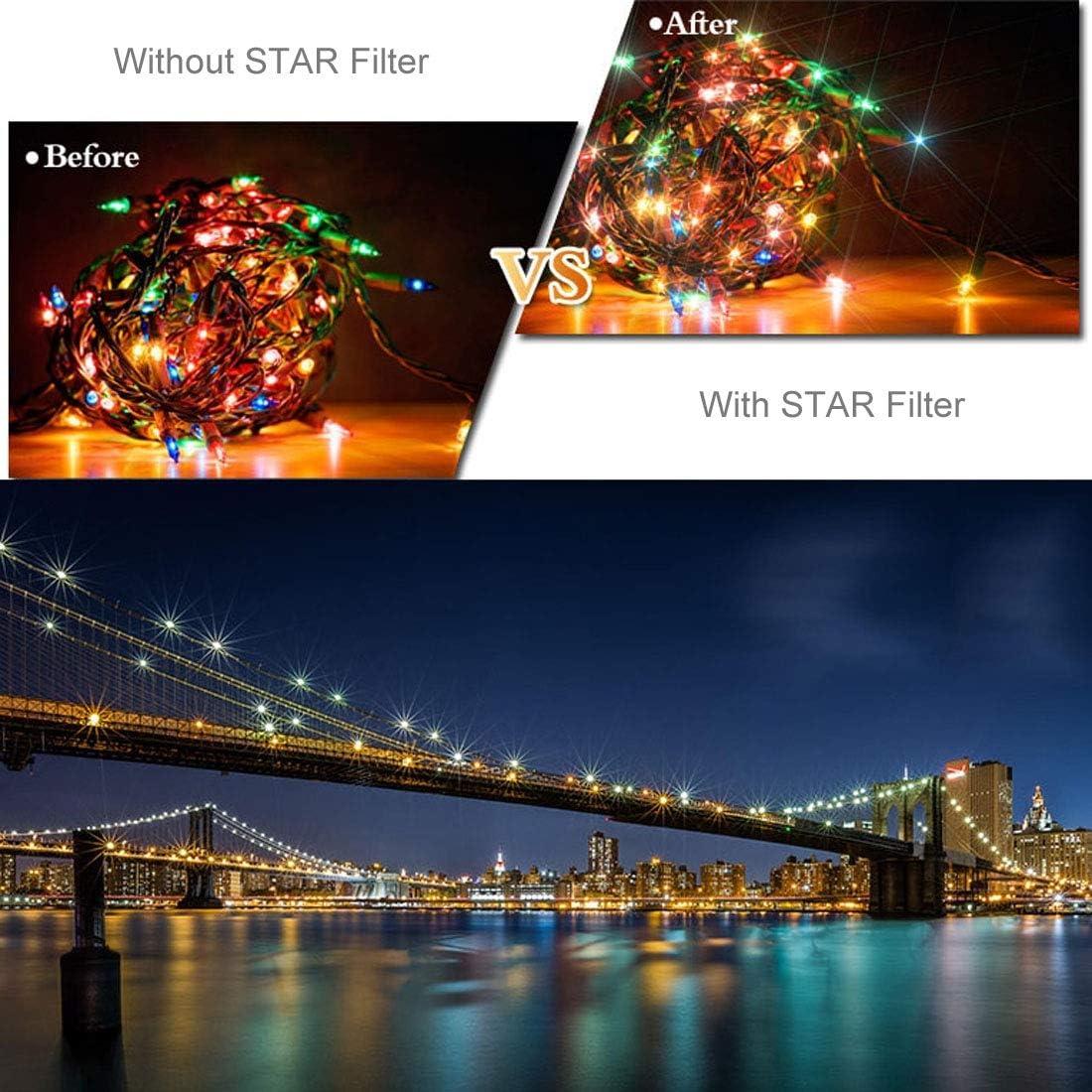 MEETBM ZIMO,HD Drone Star Effect 6-Point Lens Filter for DJI Mavic Pro