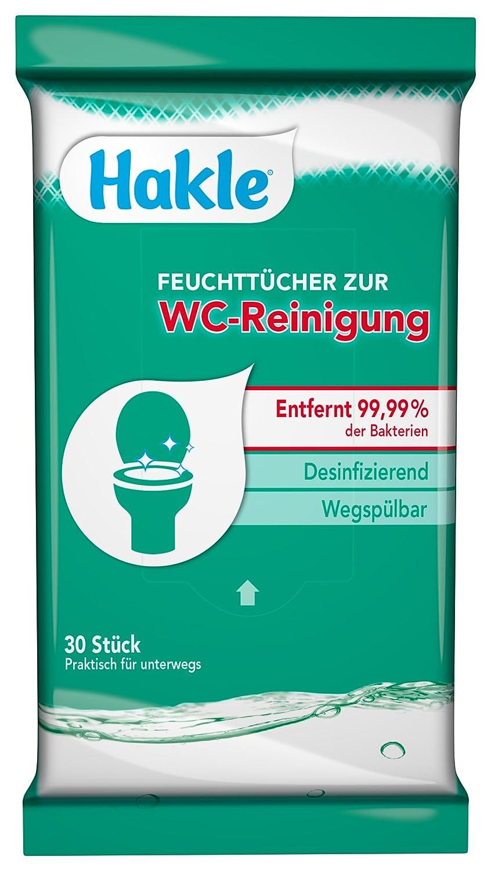 hakle Toallitas para la limpieza de inodoro, 300 Paños, (10 x 30 unidades): Amazon.es: Salud y cuidado personal