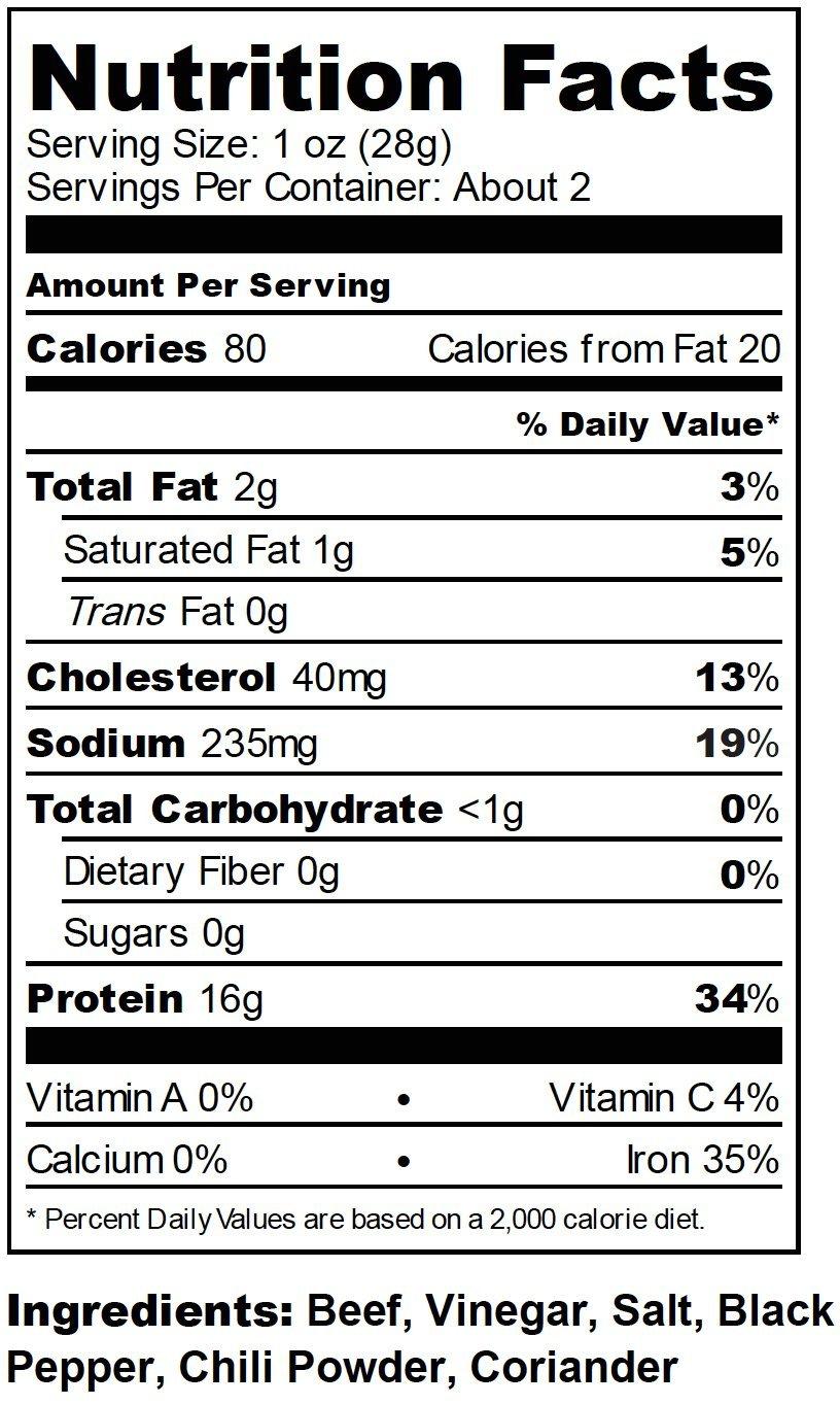 Kalahari Biltong | Air-Dried Thinly Sliced Beef | Spicy Peri Peri | 2oz (Pack of 8) | Zero Sugar | Keto & Paleo | Gluten Free | Better than Jerky by Kalahari Biltong (Image #3)