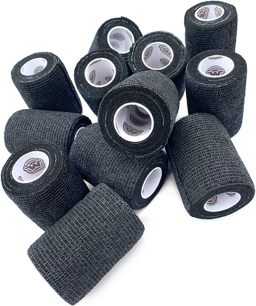 WildCow 3 Vet Wrap Tape Bulk Self Adherent Grip Rolls Solid Colors /… 12 Pack Cohesive Bandage Wraps
