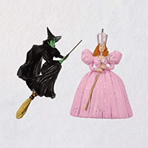 Hallmark Mini The Wizard of Oz Glinda The Good Witch and Wicked Witch of The West Ornaments, Set of 2 Movies & TV