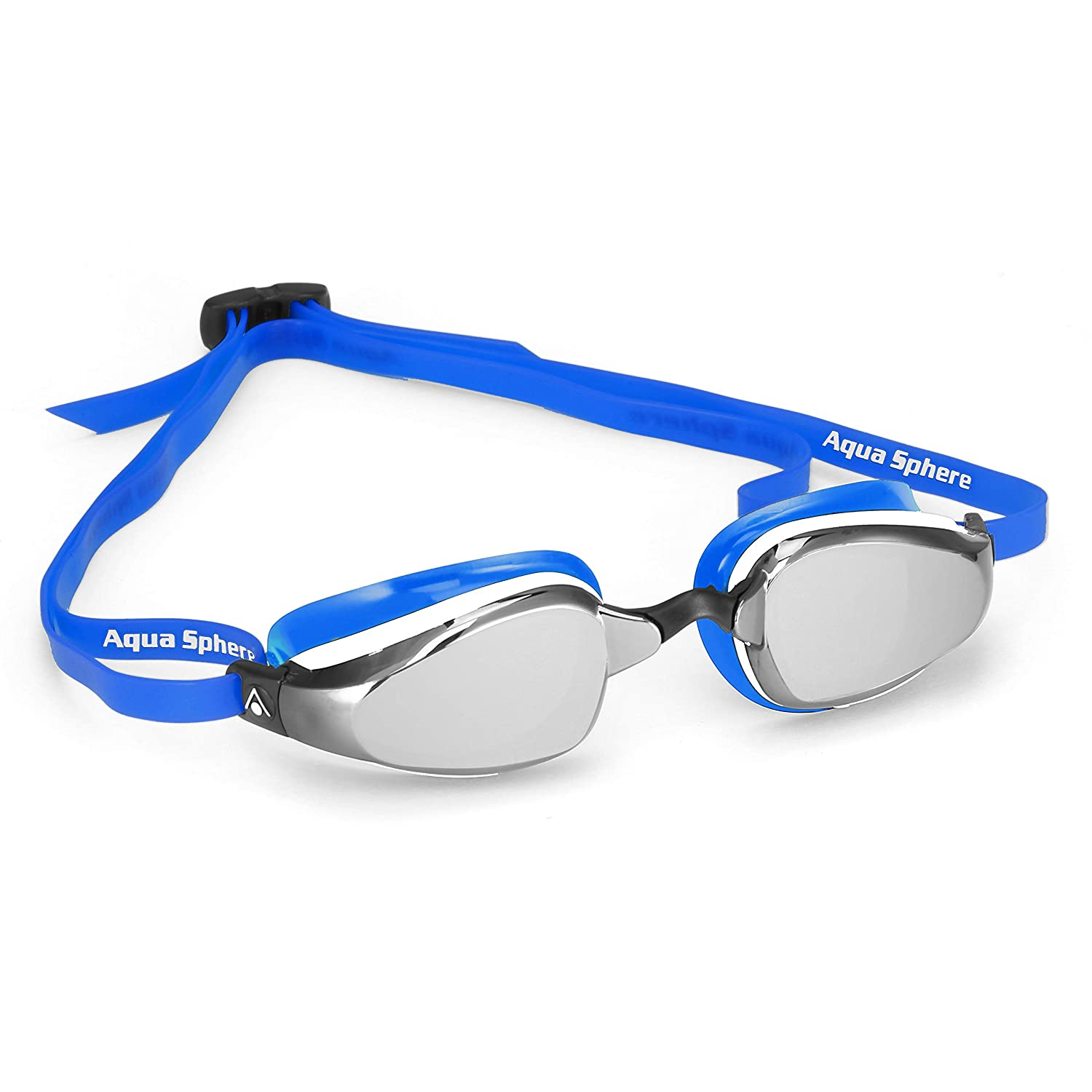 9071b1f0c9c8 Amazon.com   MP Michael Phelps K180 Goggle Mirrored Lens Blue White (Blue)    Sports   Outdoors
