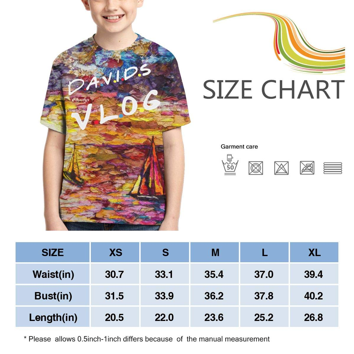 Zengqinglove Boys,Girls,Youth David Dobrik T Shirt