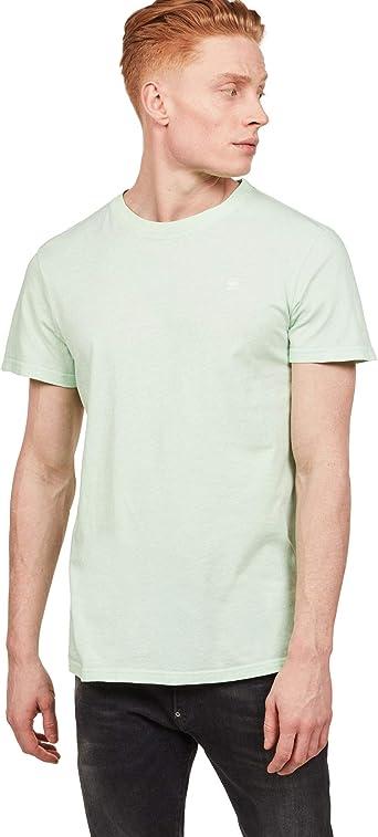 G-Star de los Hombres Camiseta de Tinte Reciclado, Verde ...