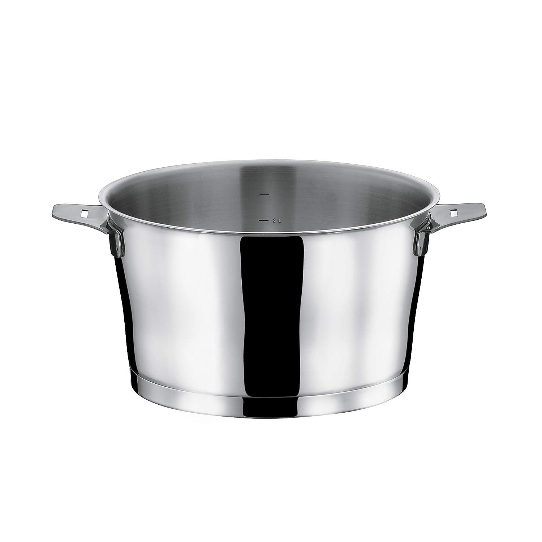 S/érie de 3 casseroles 16//18//20cm Asana inox avec poign/ée