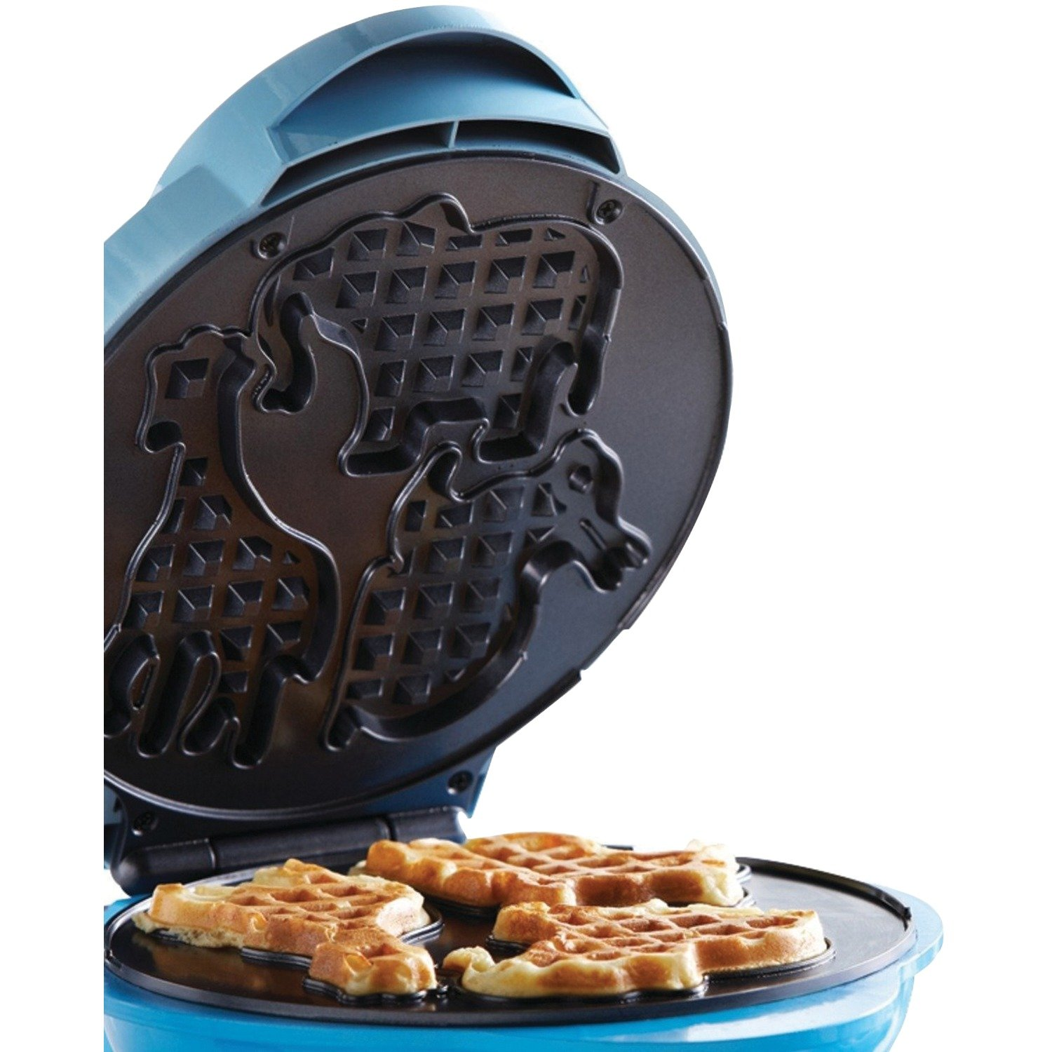 Brentwood TS-253 Appliances Electric Food Maker-Animal-Shapes Waffle Maker, Blue by Brentwood (Image #8)