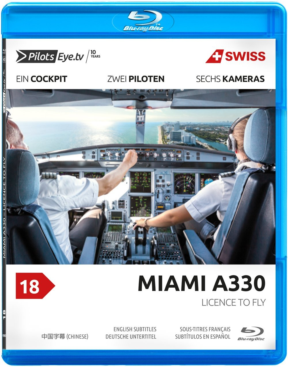 PilotsEYE.tv | MIAMI | A330 | SWISS | Licence to Fly - Flightschool with a seaside view| Bonus: Full training flight |:| Blu-ray® |:| [Region Free]