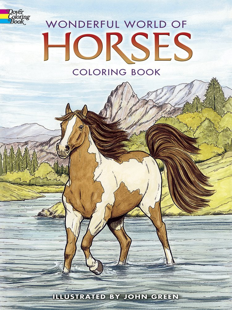 Dover PublicationsWonderful World Of Horses Coloring Book Dover