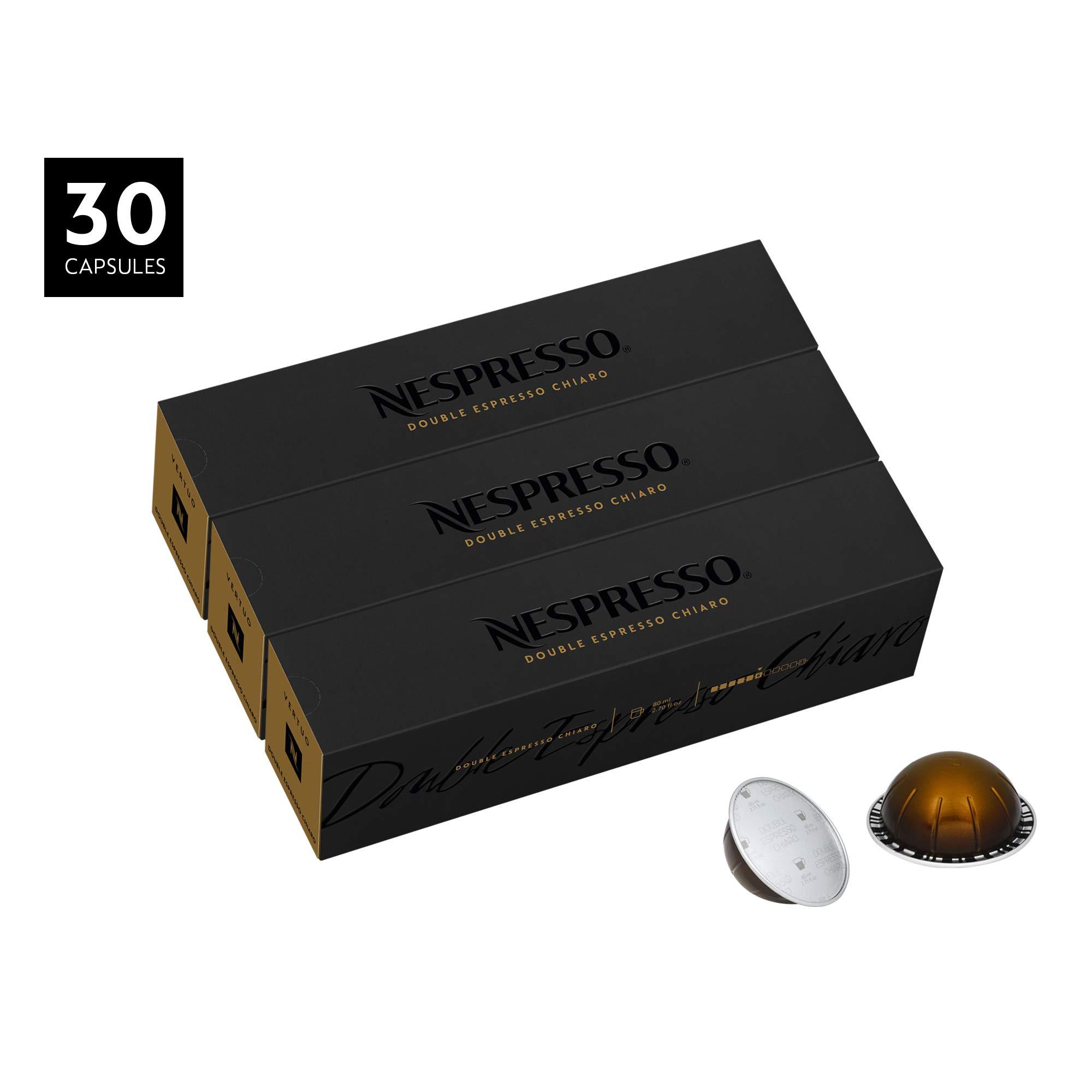 Nespresso VertuoLine Double Espresso Chiaro, Mild, 30 Count
