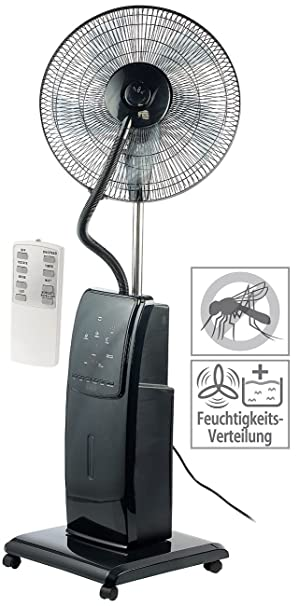 Sichler Haushaltsgerate Ventilator Mit Wasser Spruhnebel Standventilator Anti Insekten Funktion