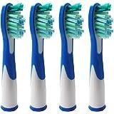 4 x ERSATZ Zahnbürste Kompatibel für Braun Oral B Sonic (1 x 4PK), kompatibel mit Oral-B Sonic, Sonic VITALITY und Sonic Complete