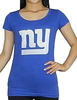 Pink Victoria's Secret Womens NFL New York Giants Crew-Neck T Shirt / Tee
