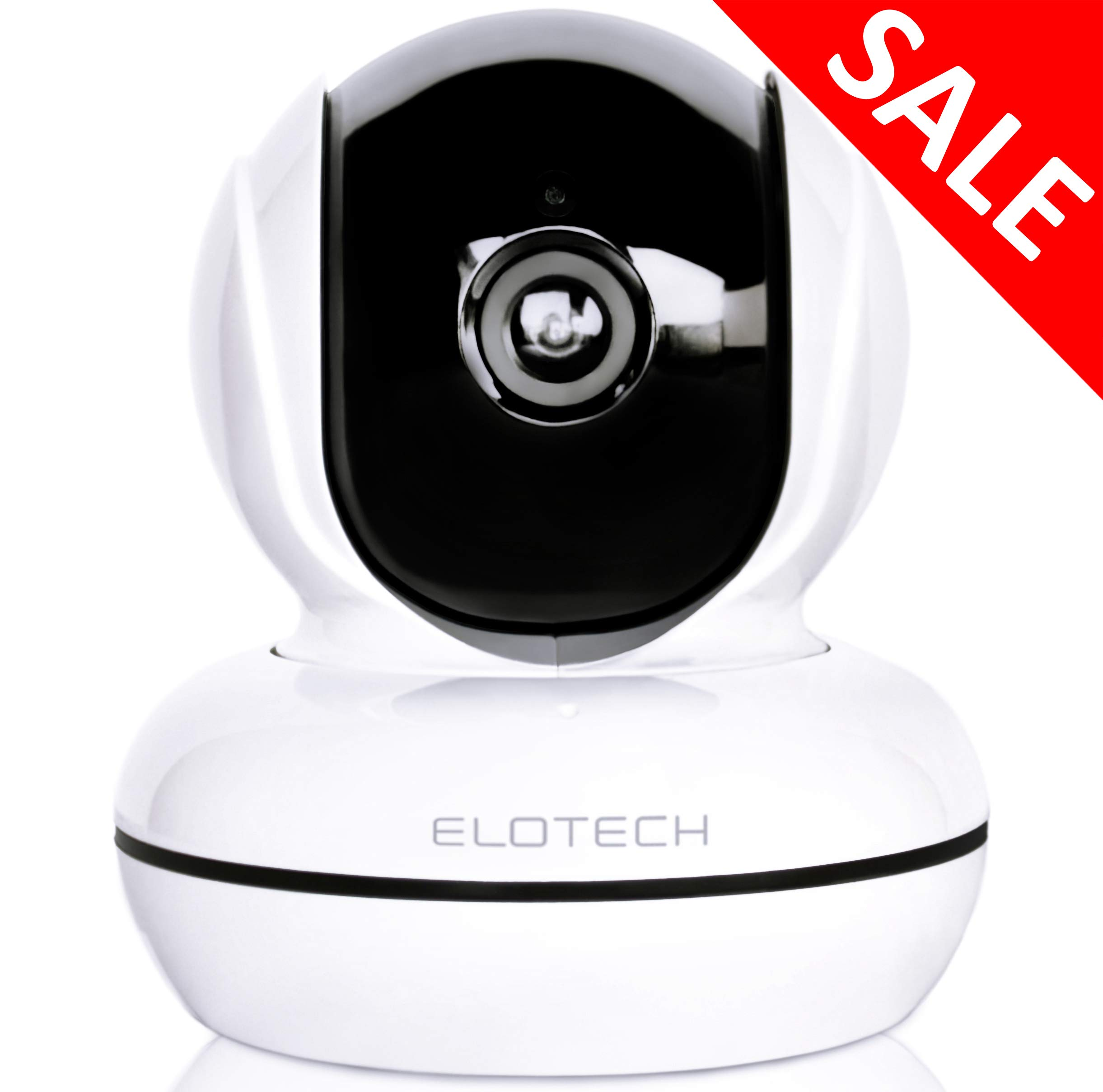 ELOTECH Home Security IP Camera 1080p HD, Wireless Wifi Smart Indoor Camera with Night Vision, Two Way Audio, Motion Sensor, Pan/Tilt, SD Card Slot for Baby, Kids, Pet, Nanny Monitoring by ELOTECH
