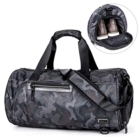 Image Unavailable. Image not available for. Color  LST Travel Duffel Bag  Backpack Sports Gym Bag with Shoes Compartment Large Travel Luggage Duffle  Bags 6f021cb2e5