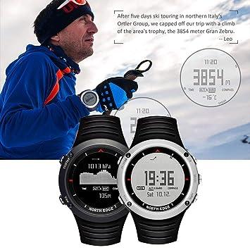 Dailyinshop North Edge Altay Reloj Inteligente para Deportes al Aire Libre Reloj Digital Inteligente a Prueba de Agua 50m para Hombres Senderismo (Color: ...