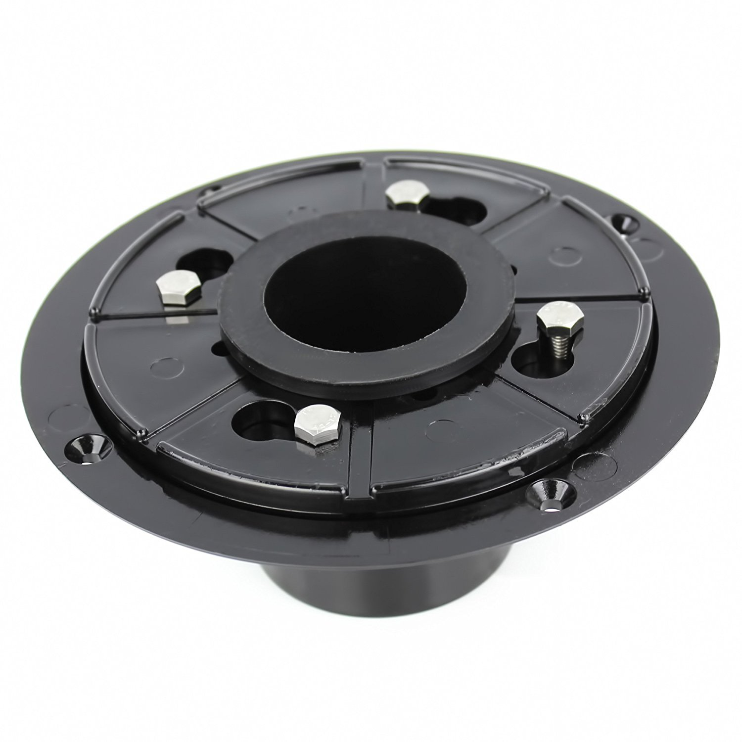 Kingwork Shower Drain Base with Rubber Gasket and Wrench, 2 Inch, No Hub Design for Linear Shower Drains - Black
