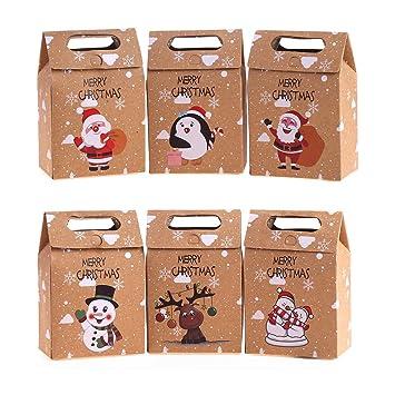 Amazon.com: VEYLIN 24 cajas de regalo de papel de Navidad ...