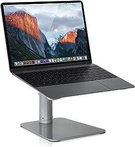 Mount-it! Adjustable Height Laptop Stand for MacBook   Ergonomic Laptop Stand Riser   Tilted Laptop Lift for MacBook Air, MacBook Pro and 11-15 inch Laptops