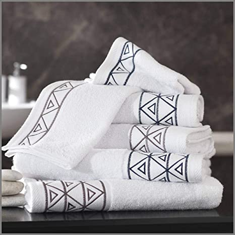 Toalla de ducha de 70 x 140 cm bordado Kheops 500 gr/m² algodón,