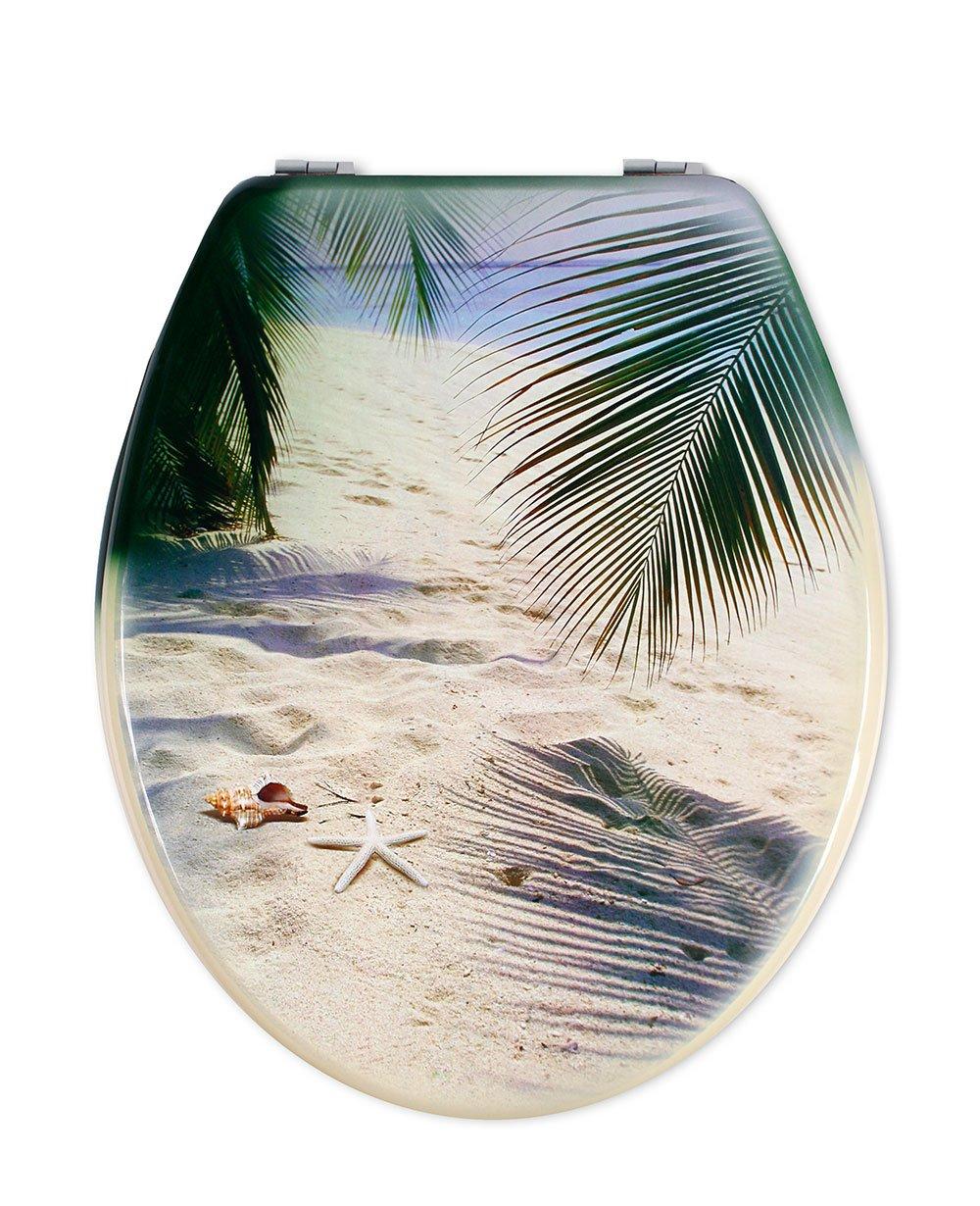 Vetrineinrete/® Copriwater universale in legno MDF serigrafato tavoletta da bagno wc con stampa cerniere in acciaio inox resistente 52975A G45 Gocce