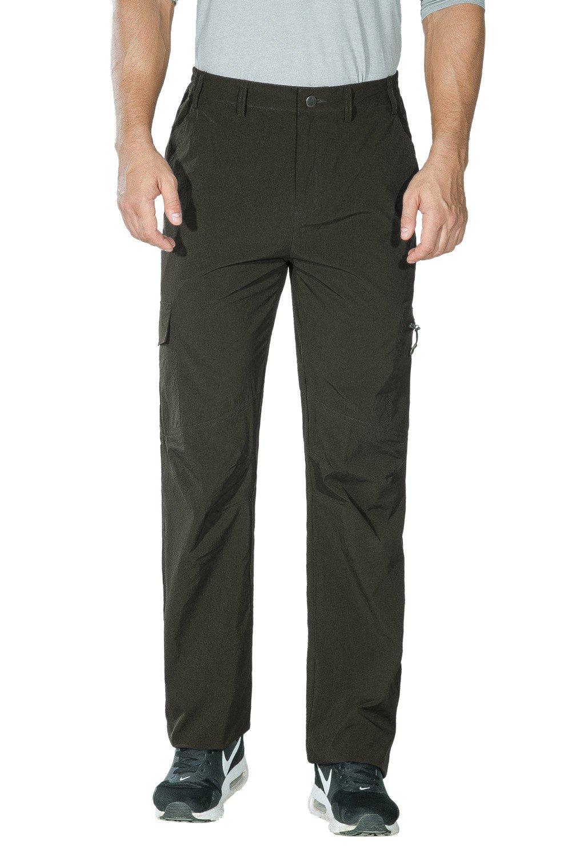 Unitop Men's Travel Pants Cargo Hiking Pants Green 32waist/30 Inseam