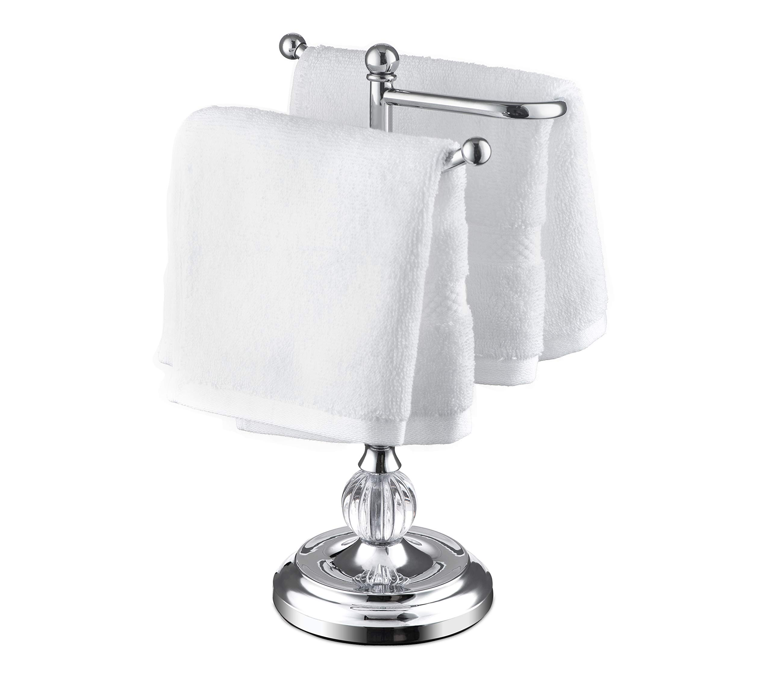 AMG and Enchante Accessories, Free Standing Fingertip Hand Towel Bar Holder Tree Rack, TT108A CHR, Chrome