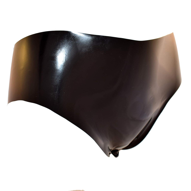 Rubberfashion Latex Slip, Latexslip Kurze Hotpanty schrittoffen mit Schamlippen und veredelter Oberfläche Nicht chloriert für Frauen und Herren 101000090