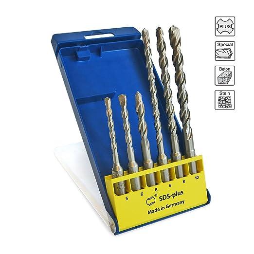 9 opinioni per S&R Punte trapano Muro, martelli ad alte prestazioni SDS 4 più, set: 6 pezzi: 5,