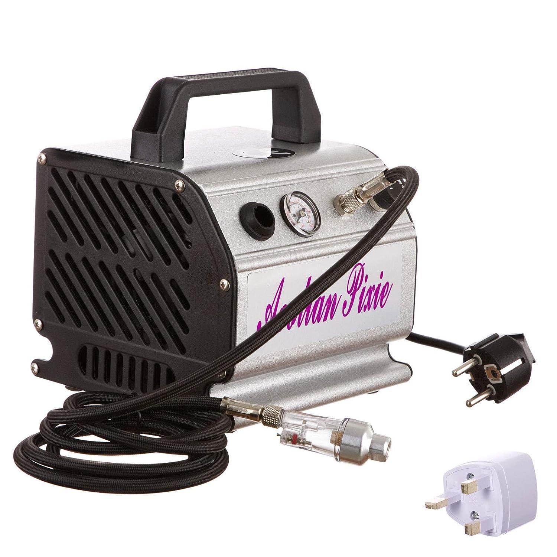 Aerógrafo Mini pistola pulverizadora Compresor de aire sin aceite Máquina: Amazon.es: Bricolaje y herramientas