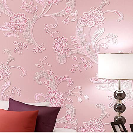 Yjz Girl Wallpaper Modern Flower Pattern 3d Embossed Textured