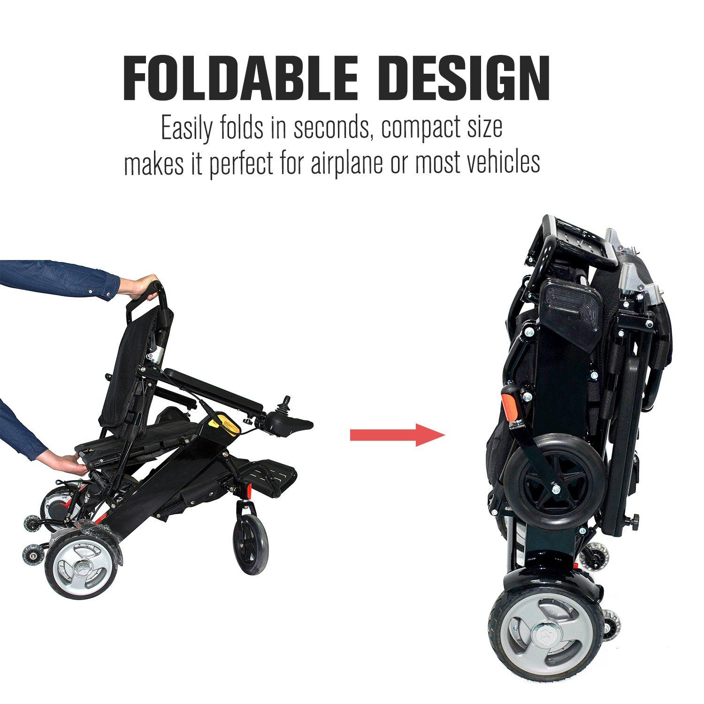 Amazon.com: Homcom eléctrico de aluminio movilidad silla de ...