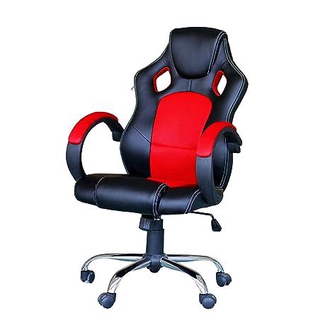 Silla Gaming Ejecutiva Giratoria Altura ajustable Oficina Escritorio con Diseño ergonómico Respaldo alto Reclinable Reposabrazos Tapizado