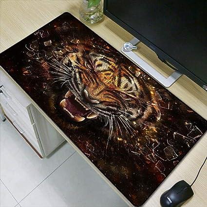 HONGHUAHUI Animal Tiger Face Alfombrilla grande Tapete de ratón Tapete de juego Gamer Alfombrillas para juegos,400X900X4MM: Amazon.es: Oficina y papelería