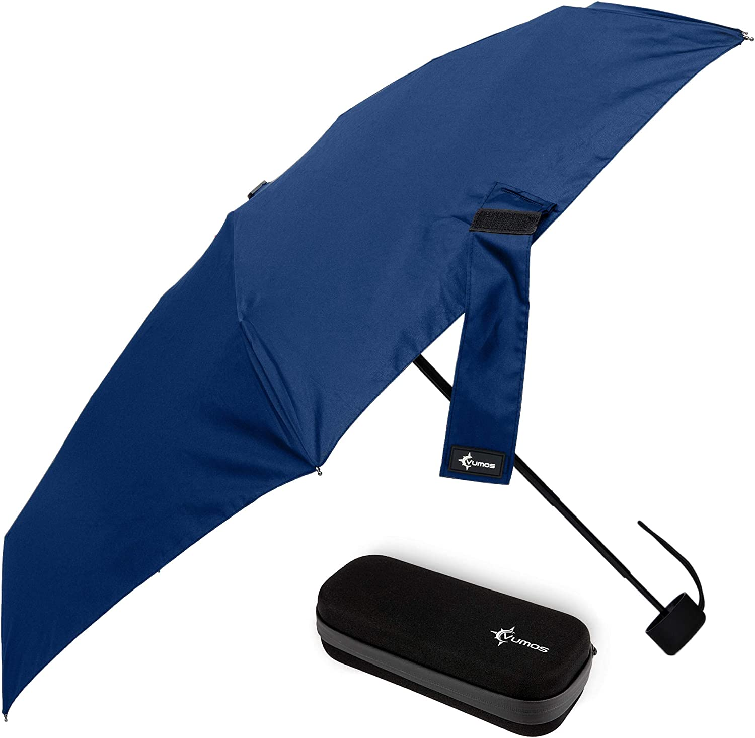 Travel Umbrella with Waterproof Case - Small and Compact for Backpack or Purse. Great Umbrella for Women, Men or Kids. (Dark Blue)