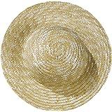 Rayher Hobby 8812331paille chapeaux, naturel, diamètre intérieur 11cm, außenø 18cm