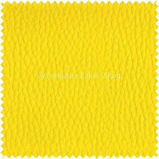 Color amarillo de cuero del Faux telas de tapicería de ...