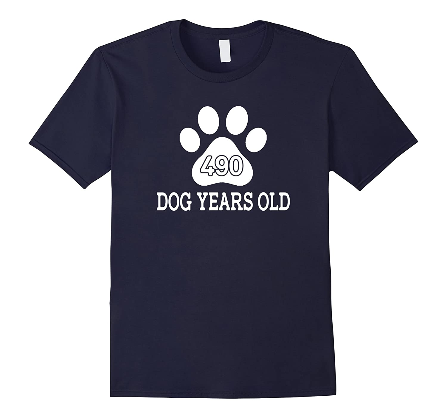 490 Dog Years Old Funny 70th Birthday T-Shirt-azvn