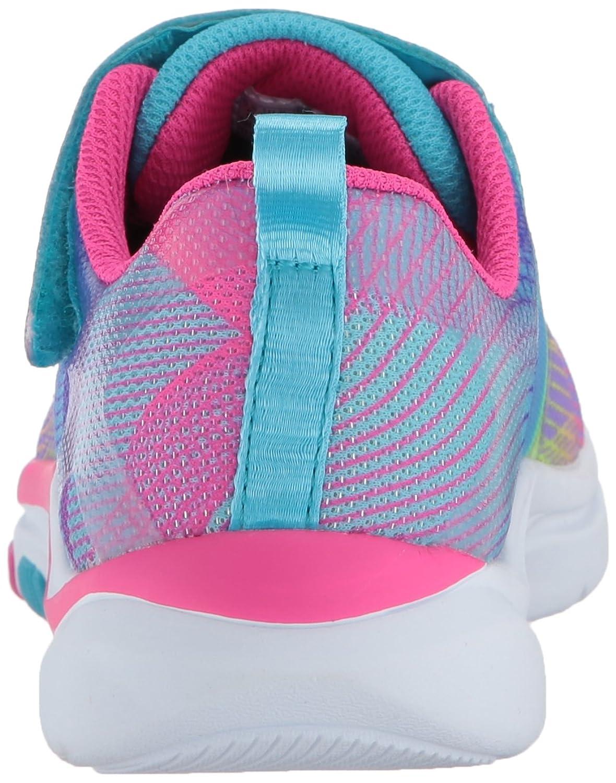 Skechers Trainer Lite-Dash N Dazzle, Zapatillas sin Cordones para Niñas, Varios Colores (Multicolour), 35 EU