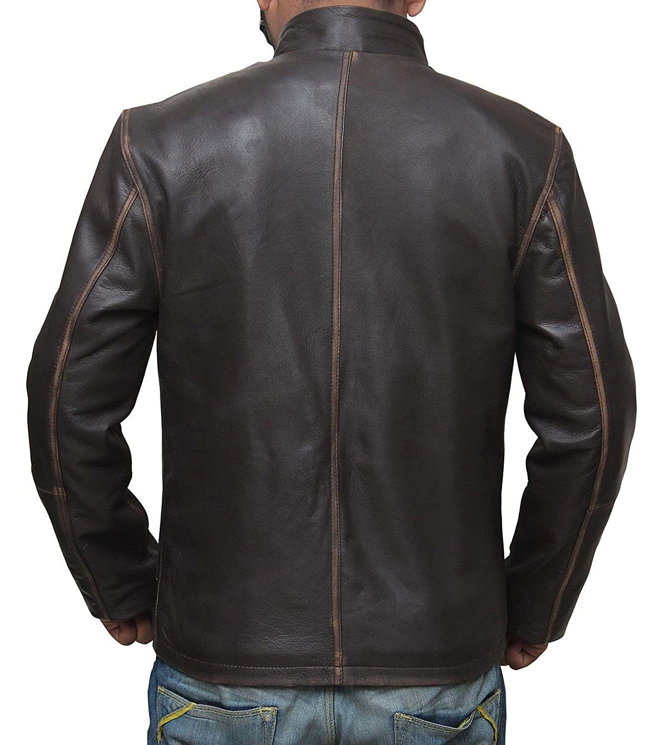Leather jacket repair toronto - Star Wars Han Solo Leather Jacket Best Seller At Amazon Men S Clothing Store