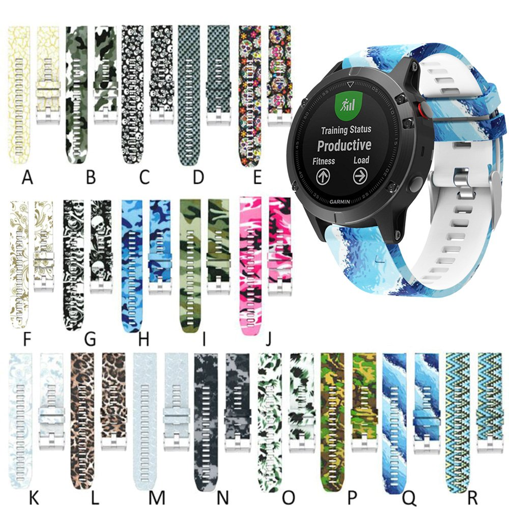 Senter 22mm Soft Silicone Sport Replacement Band for Garmin Fenix 5 / forerunner 935 Smart Watch